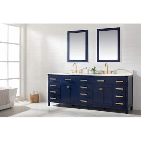 Valentino Blue 84-inch Double Vanity