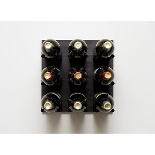 VintageView GNR-VRK Grain and Rod 9 Bottle Capacity Wall Mounted Cork Forward Wi - N/A