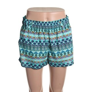 Be Bop Womens Juniors Casual Shorts Georgette Pattern - M