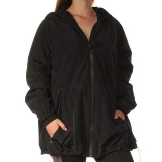 DKNY $139 Womens New 1409 Black Rain Casual Jacket M B+B