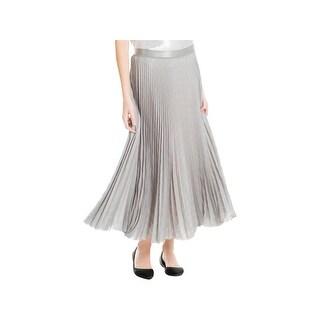 Max Studio Womens Maxi Skirt Pleated Work Wear