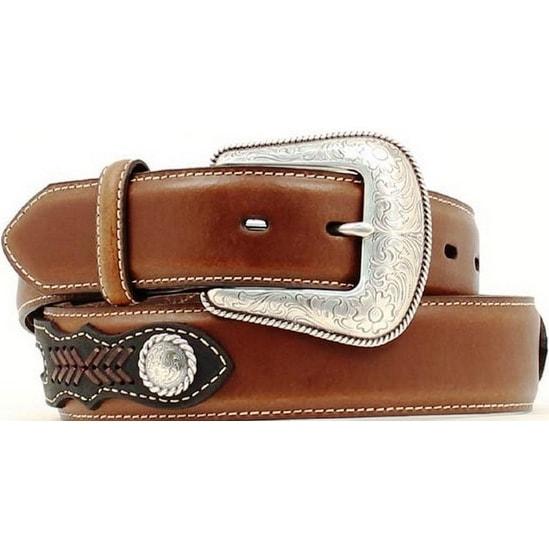 Nocona Western Belt Mens Top Hand Southwest Copper Black