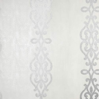 Brewster 2542-20722 Anaconda Silver Glitter Stripe Wallpaper