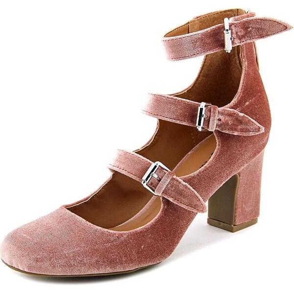 Indigo Rd. Ellie Women Round Toe Canvas Pink Heels