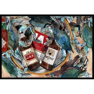Carolines Treasures 8919JMAT   Orleans Beers And Crabs Indoor & Outdoor Mat 24 x 36 in.