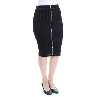 MATERIAL GIRL Womens Black Textured Knee Length Pencil Skirt Juniors  Size: S