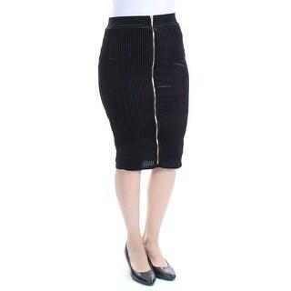 MATERIAL GIRL $44 Womens New 1449 Black Textured Pencil Skirt S Juniors B+B