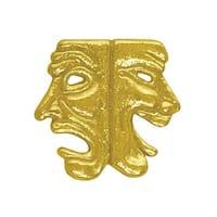 Simba CL026 1 in. Chenille Drama Lapel Pin, Bright Gold