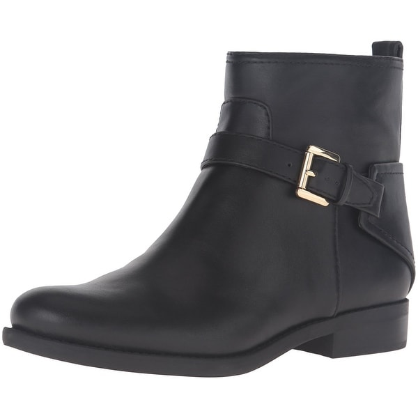 Tommy Hilfiger Womens Safire2 Leather Closed Toe Ankle Fashion Boots - 9.5