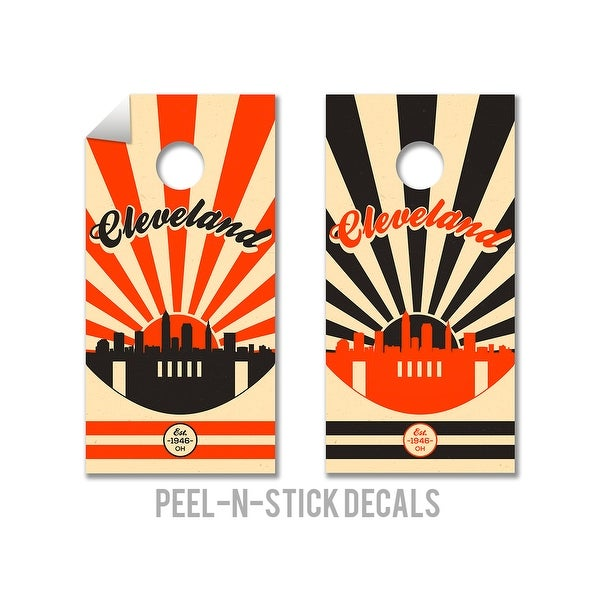 Shop Cleveland Browns Cornhole Board Decals Free Shipping On