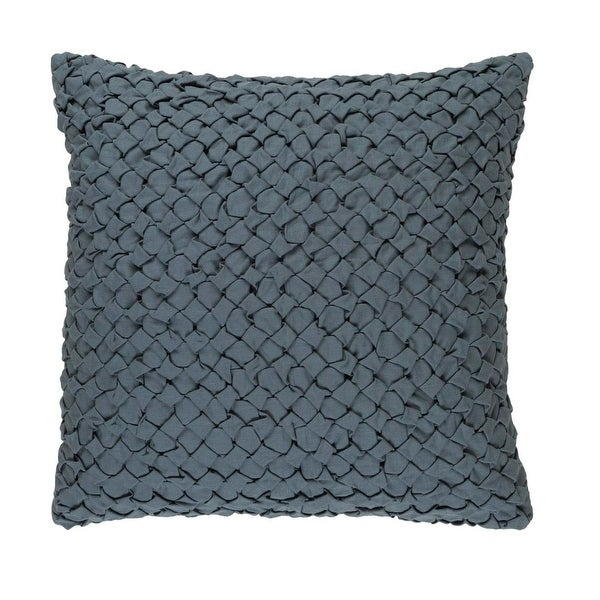 "20"" Haze Gray Angled Weave Decorative Square Throw Pillow"