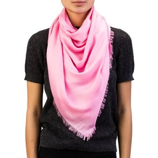 Versace Women's Repeating Medusa Logo Pattern Lenpur Scarf Pink