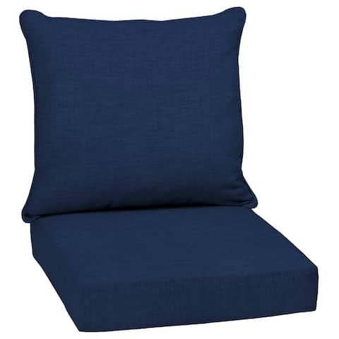 "Arden Selections Sapphire Leala Texture Outdoor Deep Seat Cushion Set - 24"" L x 24"" W x 5.75"" H"