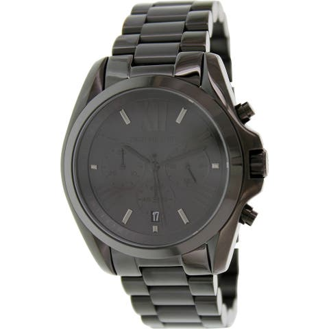 Michael Kors Men's Bradshaw Black Stainless-Steel Quartz Fashion Watch