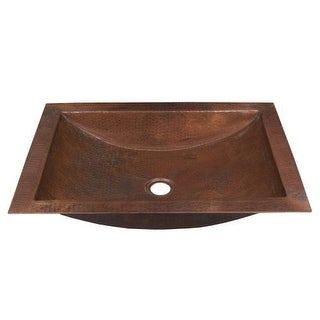 "Native Trails CPS45 Avila 18"" Single Basin Undermount Copper Bathroom Sink"