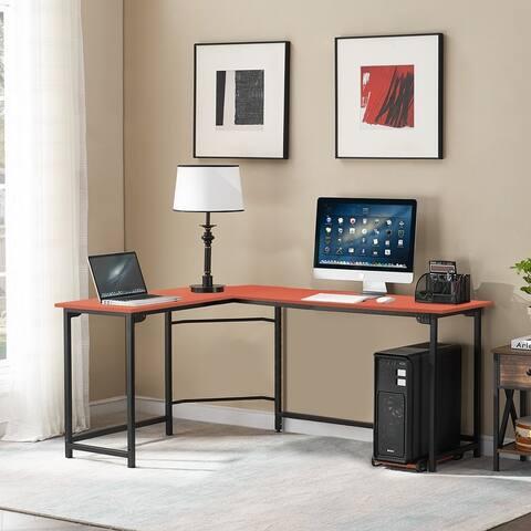 VECELO L-shaped Computer/ Writing Office Corner Desk