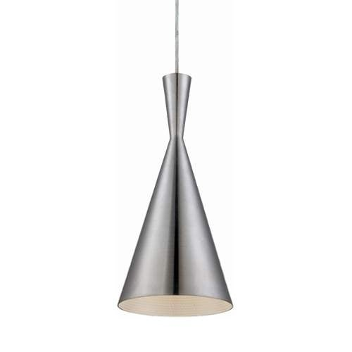 Eurofase Lighting 20437 Bronx 1 Light Pendant with Metal Cone Shade