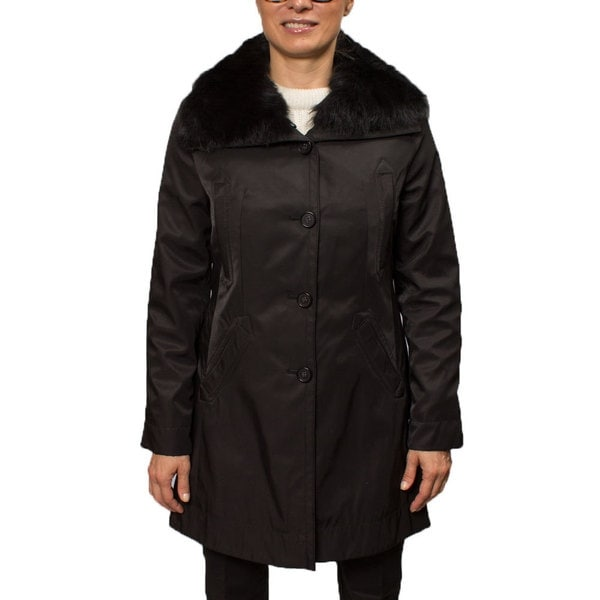 Hilary Radley Women's Jacket with Genuine Fur Trim