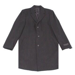 IKE BEHAR NEW Gray Charcoal Mens Size 44L Savoy Wool Blends Coat