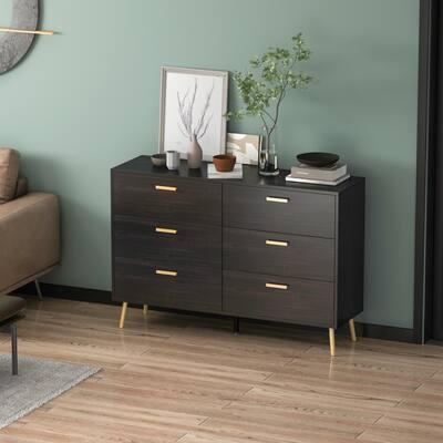Kerrogee 6-Drawer Chest - Modern Wooden Storage Dresser