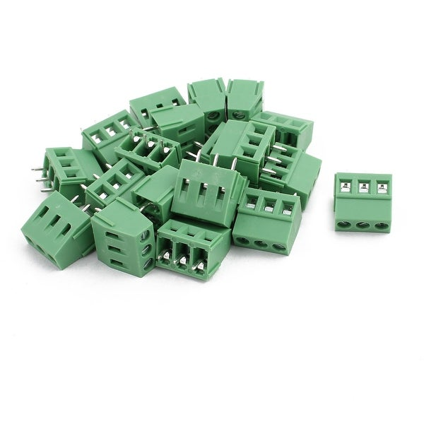 20Pcs KF128 AC300V 10A 3P 5 08mm Pitch Screw Type PCB Terminal Blocks  Connector