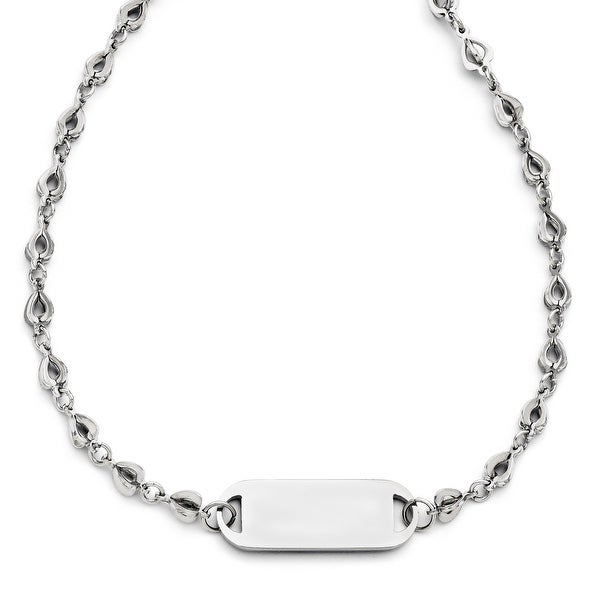 Chisel Stainless Steel Polished Necklace (7 mm) - 18 in