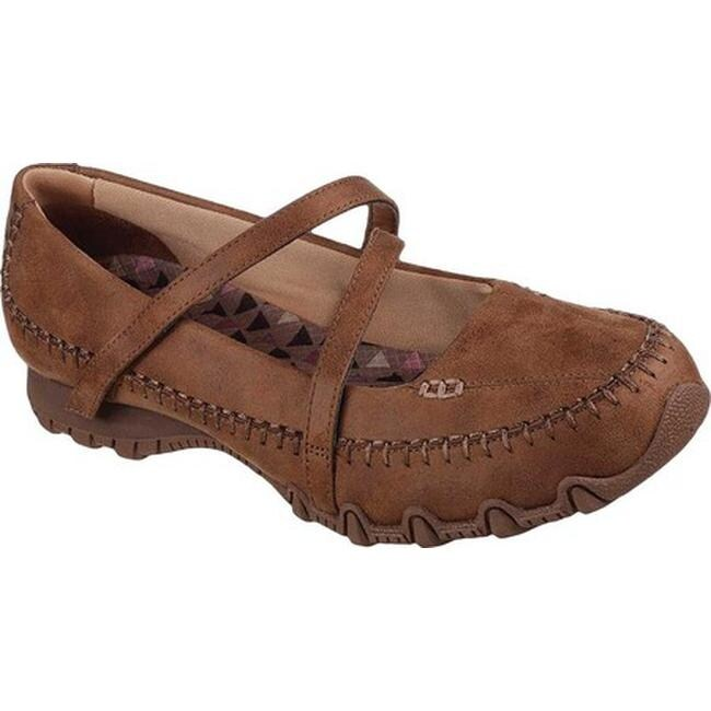 Skechers Women's Relaxed Fit Bikers Free Thinker Mary Jane Brown