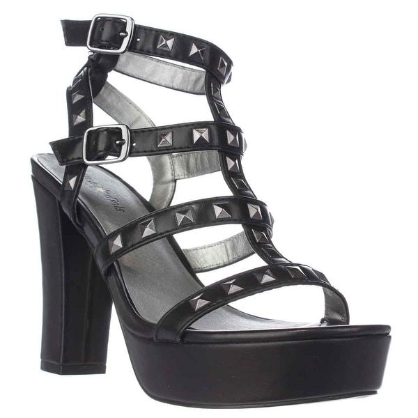 Seven Dials New Age Strappy Studded Sandals, Black