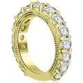 4.15 cttw. 14K Yellow Gold Antique Round Cut Diamond Engagement Set - Thumbnail 5