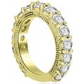4.40 cttw. 14K Yellow Gold Antique Round Cut Diamond Engagement Set - Thumbnail 5