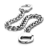 Stainless Steel Chain Hand Cuff Bracelet 7 Inches Long (8 mm) - 7 in