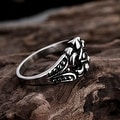 Vienna Jewelry Spartan Shield Stainless Steel Ring - Thumbnail 2