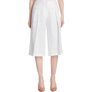 MICHAEL Michael Kors Womens Culottes Linen Pleated