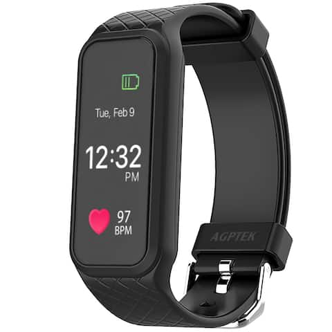 AGPtek Fitness Tracker L38i IP67 Rainproof Smart Wristband for Android IOS Samsung LG HTC iPhone - SIZE