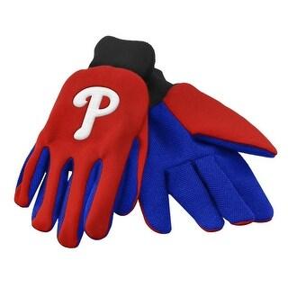 Officially Licensed MLB No Slip Gardening / Work / Utility Glove With Team Logo Baseball Philadelphia Phillies