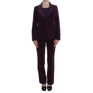 BENCIVENGA Purple Wool Suit T-Shirt Set