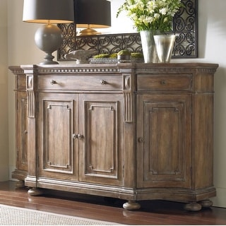 """Hooker Furniture 5107-85001  72"""" Wide Hardwood Cabinet from the Sorella Collection - Antique Whitewashed Taupe"""