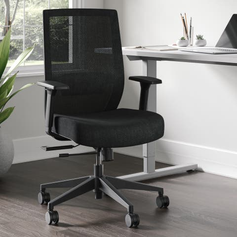 Whirl Ergonomic Mesh Task Chair with Padded Seat