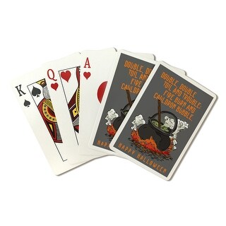 Double Double Toil & Trouble Halloween LP Artwork (Poker Playing Cards Deck)