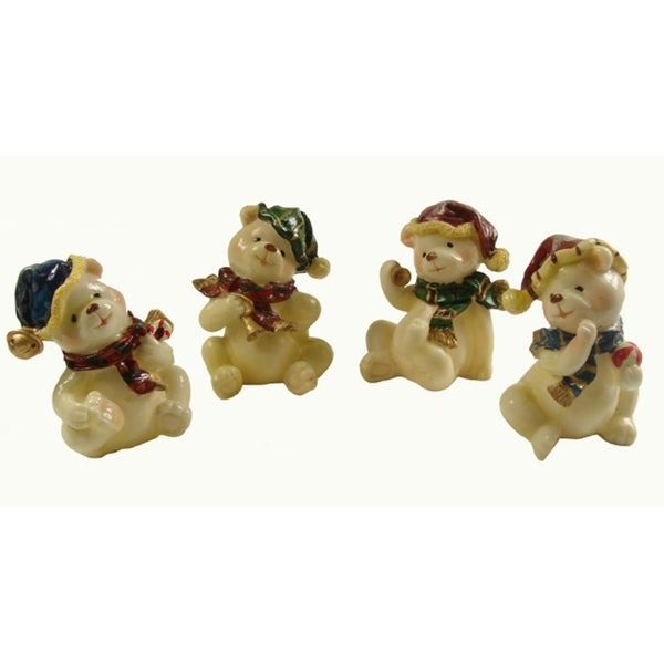 Club Pack of 120 Classic Christmas Bear Figures 4""