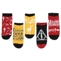 Harry Potter Mischief Managed No-Show Socks 5 Pair (9-11)