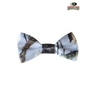 White Mossy Oak Camo Pre-Tied Bow Tie