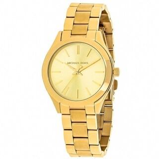 Michael Kors Women's Slim Runway Gold Dial Watch