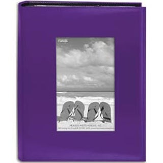"Bright Purple - Sewn Frame Photo Album 7""X9"" 200 Pockets"