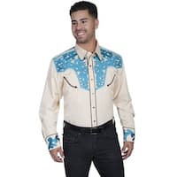 Scully Western Shirt Mens Long Sleeve Embroidered Snap