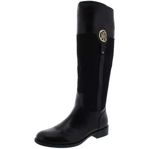 Tommy Hilfiger Womens Ilia 5 Riding Boots Leather Round Toe