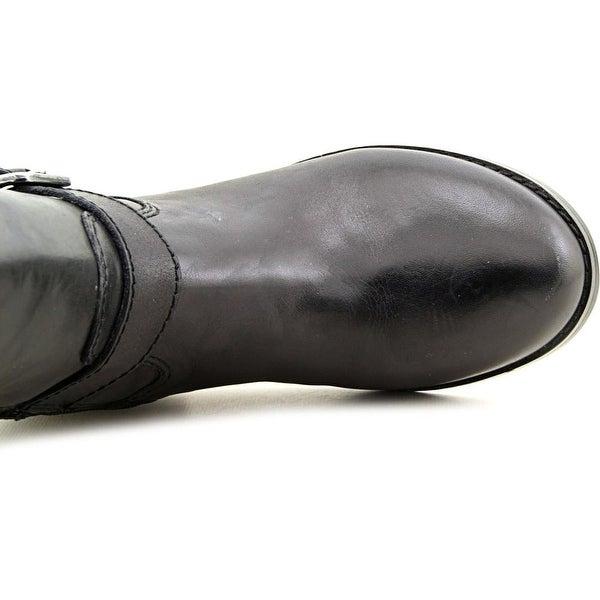 Marc Fisher Aysha Women Round Toe Leather Black Knee High Boot