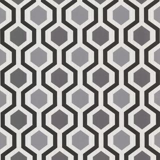 Brewster 347-20133 Marina Black Modern Geometric Wallpaper