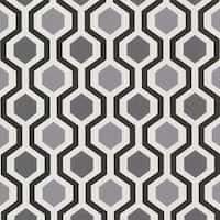 Brewster 347-20133 Marina Black Modern Geometric Wallpaper - N/A