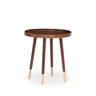End Table In Walnut - Wood Veneer, Solid Wood L Walnut